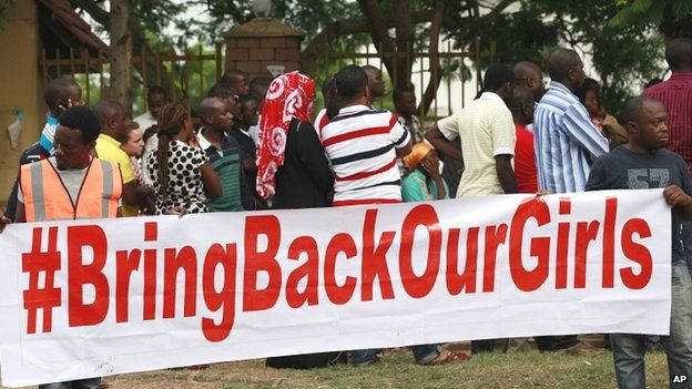 A rally in support of the abducted schoolgirls
