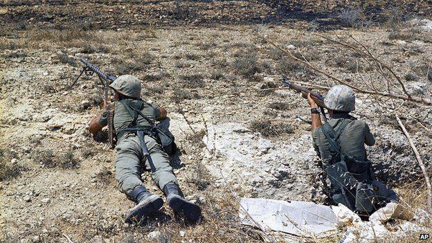 Turkish troops in Cyprus, 1974