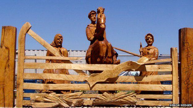 Rebecca Riots sculpture in St Clears