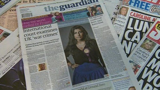 The Guardian with UKIP's Sanya-Jeet Thandi pictured on its front page