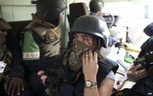 Camille Lepage in Bangui (14 Feb)