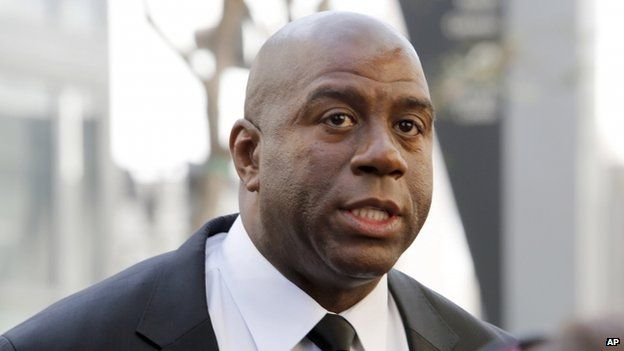 Earvin Magic Johnson appeared in Los Angeles, California, on 21 February 2013