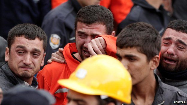 Scene of the mining disaster in Soma, Manisa province, Turkey, on 14 May 2014