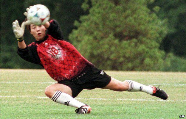 Gao Hong in training