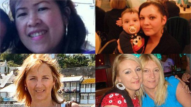 Composite image of four pictures: Charito Cruz, Melissa and Noah Crook, Jennie Leeman and Michala Gol and Julie Sahin
