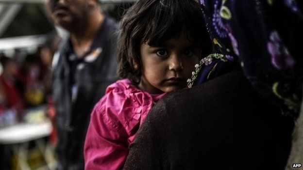 Little girl at funeral - 15 May