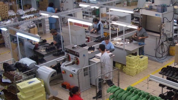 Factory in Guimaraes of Kyala, the footwear company that makes the Fly London brand