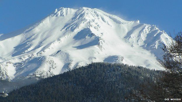Mt Shasta, California, in December 2006. Snow-fed water resources are critically important to the western USA