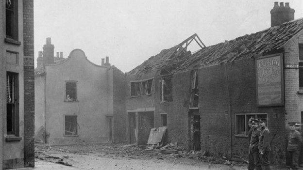 Zeppelin raid on Great Yarmouth