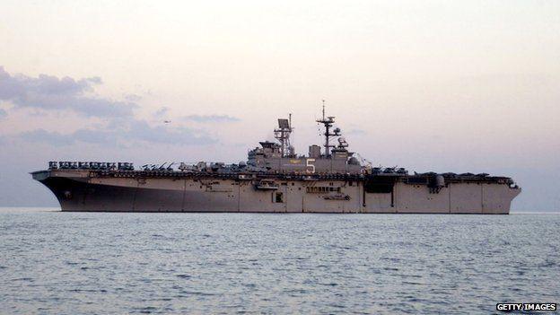 USS Bataan, a Wasp-class amphibious assault ship - 30 November 2001