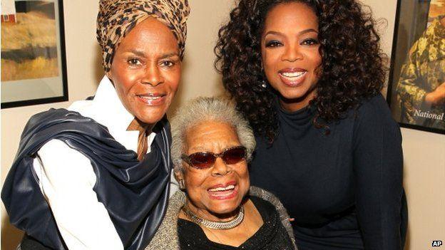 Cicely Tyson, Maya Angelou and Oprah Winfrey
