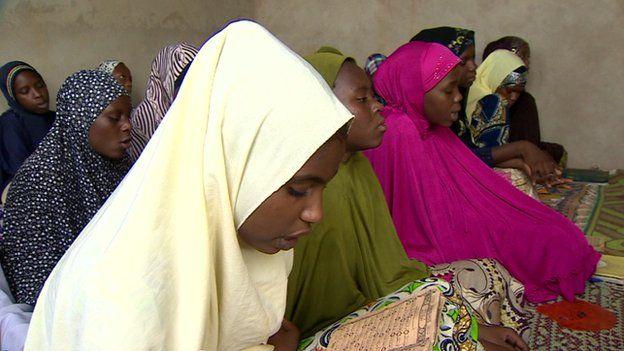 Girls at a Koranic school in Agadez, Niger