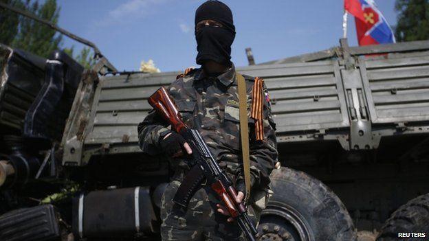 A pro-Russian gunman near Donetsk airport. Photo: 29 May 2014