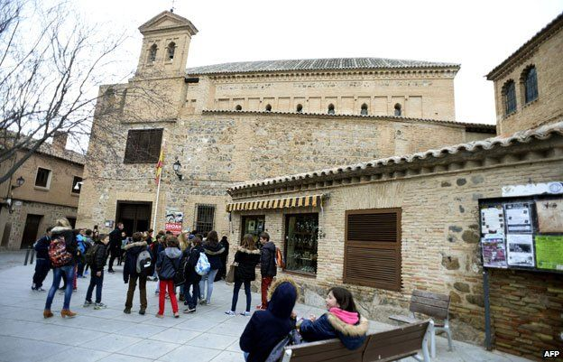 The 'El Transito' synagogue and Sephardic Museum in Toledo