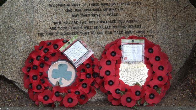 Wreathes laid in Lisburn