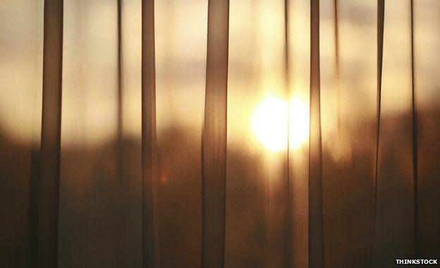 Sunlight through curtain