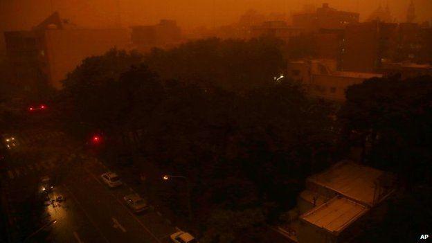 A view of Tehran, Iran, 2 June 2014