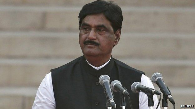 In this May 26, 2014, photo BJP leader Gopinath Munde takes the oath of office during a swearing-in ceremony for new PM Narendra Modi and his council of ministers