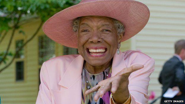 Maya Angelou pictured at a party to mark 82nd birthday, Winston-Salem, North Carolina, US - May 2010