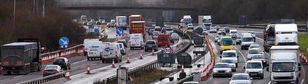 Section of the M25