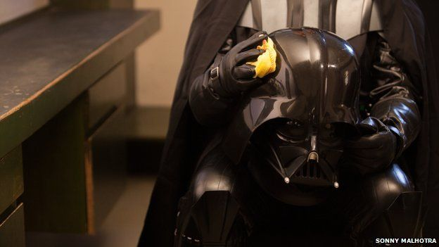 Vader with his mask off