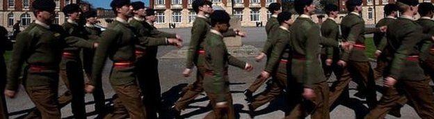 Cadet officers at Sandhurst in 2011