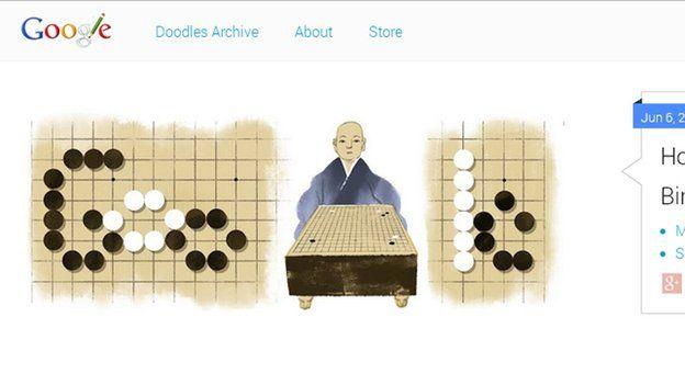 Screen grab of Google Doodle