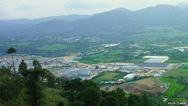 A view of the Escobal silver mine