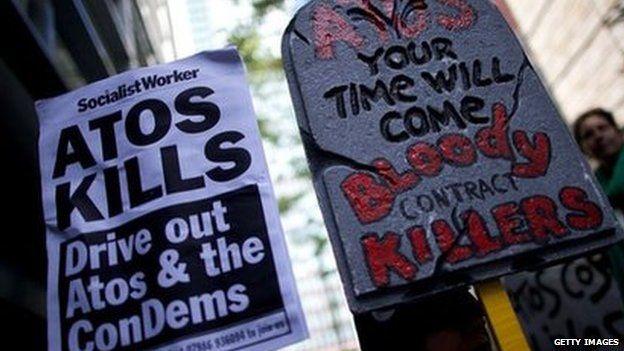 Protest against Atos in 2012