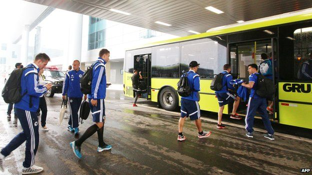 Bosnia-Hercegovina arriving in Rio for World Cup