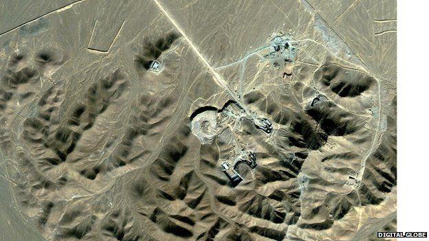 Satellite view of Qom