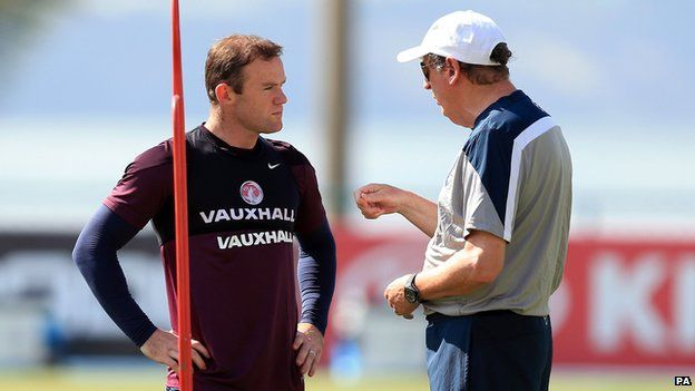 There has been a lot of debate surrounding Wayne Rooney's (left) place in Roy Hodgson's side
