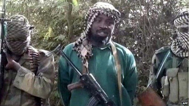 An image from a video showing Abubakar Shekau, the leader of Boko Haram - March 5, 2013
