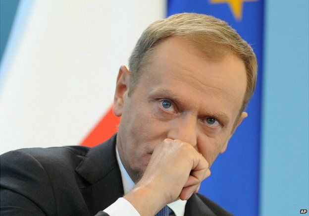 Prime Minister Donald Tusk listens to a question during a press conference in Warsaw - 19 June 2014