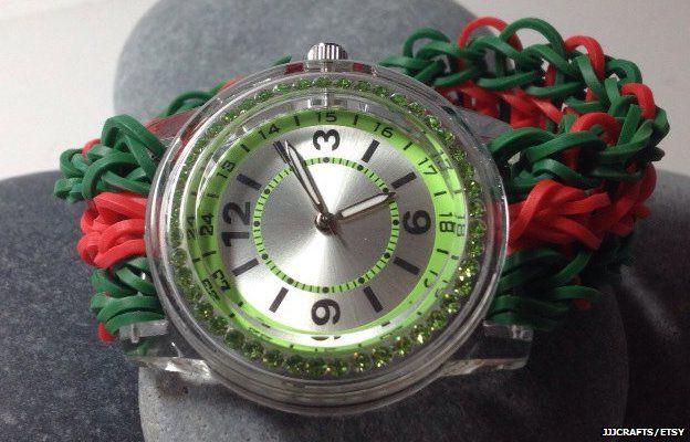 Loom band wrist watch