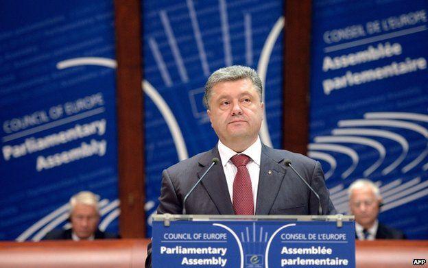 President Poroshenko addresses Council of Europe parliamentary assembly in Strasbourg (26 June(