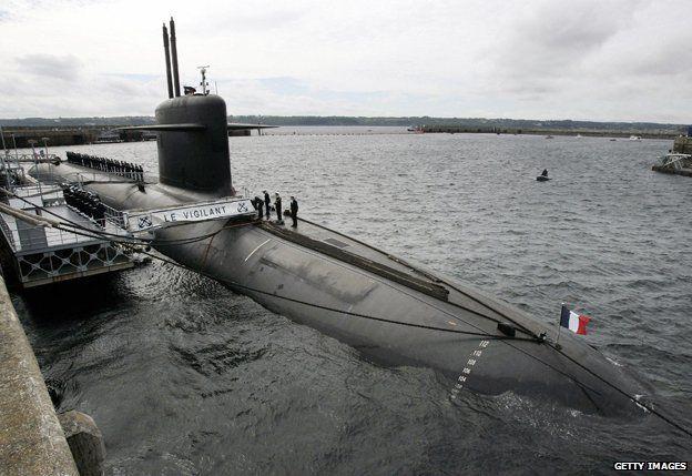 Submarine at Ile Longue