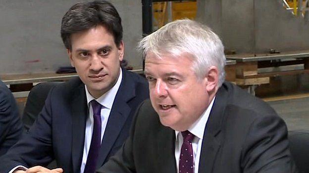Ed Miliband a Carwyn Jones