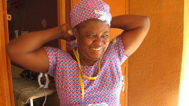 Therese Tiema, owner of the Copromof workshop in Ouagadougou, Burkina Faso