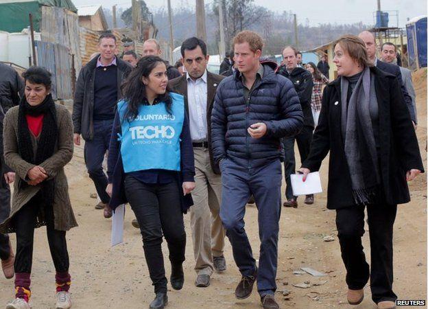 Prince Harry tours El Vergel
