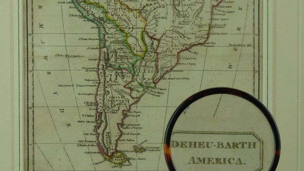 Map Robert Roberts o De America un o rhai sy'n cael ei werthu heddiw.