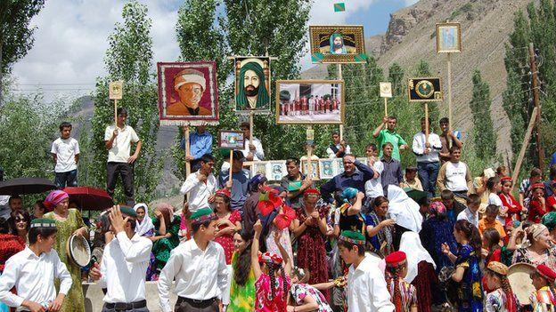 Gorno-Badakhshan's Pamiri population follow the Ismaili branch of Shiite Islam and speak a different language from other Tajiks
