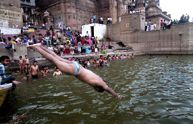 Man diving into the Ganges