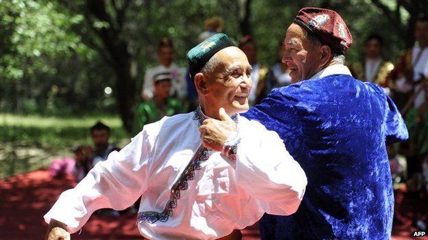 Uighurs in China's Xinjiang region (June 2014)