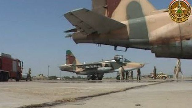 Fighter aircraft, from online video