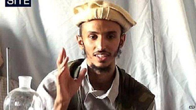 Abdullah al-Asiri in a video before his death (2009)