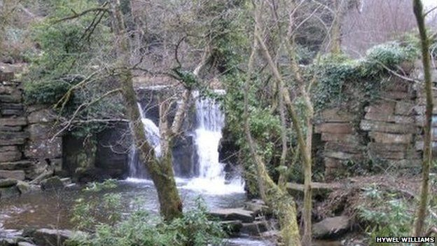 Waterfall at Penllergare