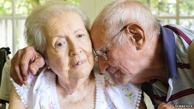 Elderly couple with dementia