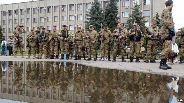 The Ukrainian army in Sloviansk (8 July 2014)