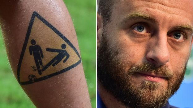 Daniele de Rossi and tattoo